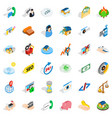call us icons set isometric style vector image vector image
