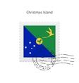 Christmas Island Flag Postage Stamp vector image
