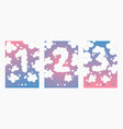 clouds font numbers set posters cards vector image vector image
