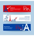 Collection of banners and ribbons with Paris vector image