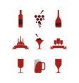 collection of wine graphic design template vector image