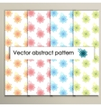 Colorful abstract flowers on a white background vector image vector image