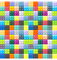 Colorful plastic brick pattern vector image vector image