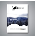 Cover magazine flyer brochure template mockup vector image