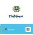 creative processor logo design flat color logo vector image