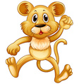 Cute little cub jumping vector image vector image