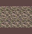 digital green brown army camouflage background vector image