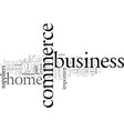 e commerce and the home business vector image vector image