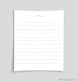Empty white papers vector image vector image