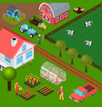 farm isometric vector image vector image