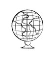 figure global earth planet desk design to study vector image vector image