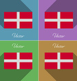 Flags Military Order Malta Set of colors flat vector image