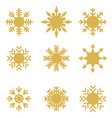 flat icons of snow flakes silhouette vector image