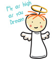Fly High vector image