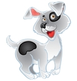 Fun white dog vector image vector image