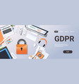 general data protection regulation gdpr concept vector image vector image