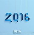 Happy New Year Card blue style vector image vector image