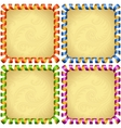 holiday square frame set vector image vector image