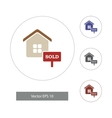 in flat style Home icons vector image