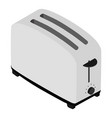 isometric bread toaster vector image vector image
