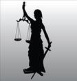 Justice statue silhouette