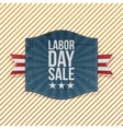 Labor Day Sale greeting paper Emblem vector image vector image