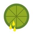 lemon juice isolated icon design vector image
