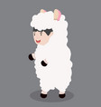 little kid characters in sheep costume vector image vector image