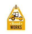 logo paver road repair asphalt processing works vector image vector image