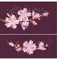 luxury elegant floral pattern vector image