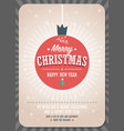 merry christmas card on a decorative christmas vector image vector image