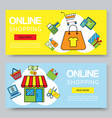 online shopping or summer sale banners vector image vector image