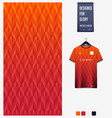 orange geometry abstract background fabric pattern vector image