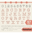 Points font 97 letters numbers and signs vector image