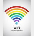 rainbow wifi vector image vector image