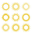 rays beams element sunburst starburst set vector image