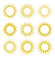 rays beams element sunburst starburst set vector image vector image