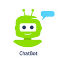 robot or chatbot logo template chat bot icon vector image vector image