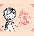 save the date wedding vector image vector image