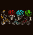 set colorful for bicycle theme vector image vector image