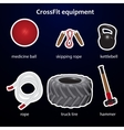 Set of crossfit sport equipment vector image