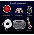 Set of crossfit sport equipment vector image vector image