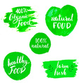 Set of Eco healthy Food labels vector image vector image