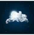 Shiny Full Moon vector image vector image