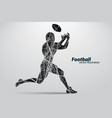 silhouette of a football player rugby american vector image