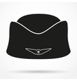 Silhouette symbol Classic Stewardess hat vector image