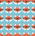 smart cartoon foxes vector image vector image