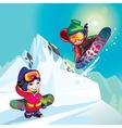 snowboarders vector image