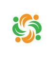 spin leaf eco logo vector image