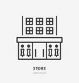 store flat line icon thin sign of shop vector image vector image